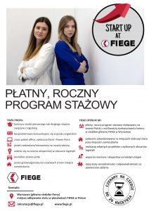 Roczny, płatny program stażowy w przedsiębiorstwie Fiege!