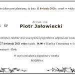 Uroczystości pogrzebowe dr hab. Piotra Jałowieckiego